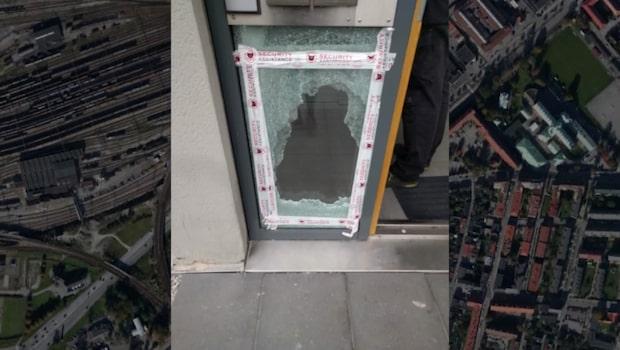 Kraftig fyrverkeripjäs detonerade i trapphus