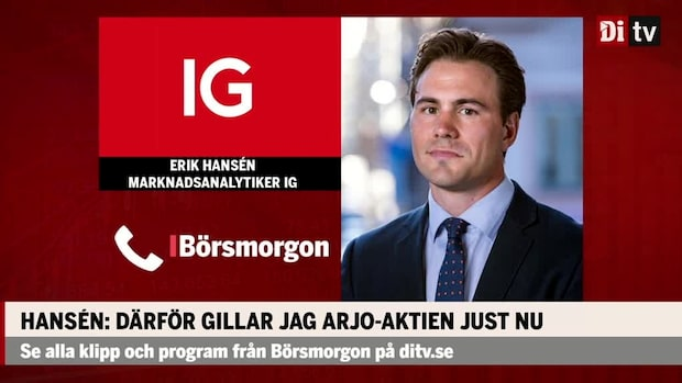 Erik Hansén tror på Arjo: Förutsättningar att komma med ett bra tredje kvartal