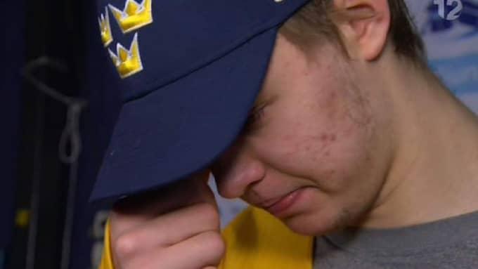 Linus Söderström var besviken efter förlusten. Foto: TV 12