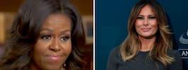 Därför vägrar Melania att  prata med Michelle Obama