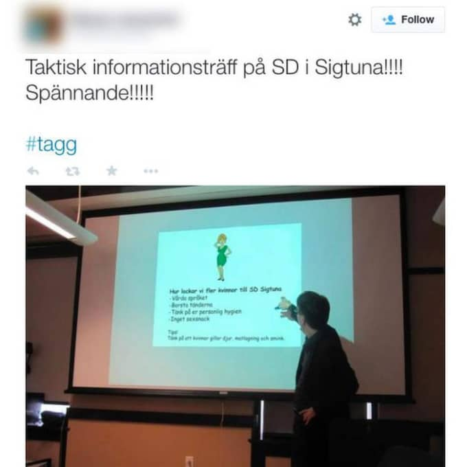 Den fejkade bilden som spreds via kontot. Foto: Skärmdump från Twitterkontot