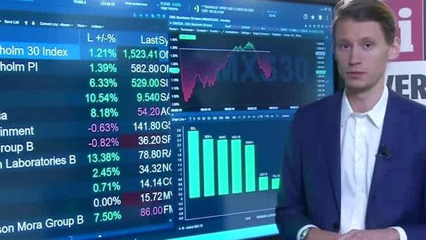 Börsöppning: Stockholmsbörsen återhämtar sig efter gårdagens ras