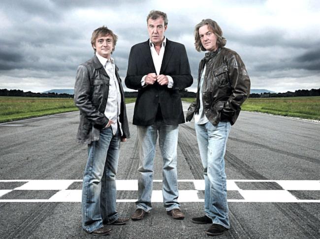 De gamla programledartrion från Top Gear. Nu leder de i stället serien The Grand Tour.