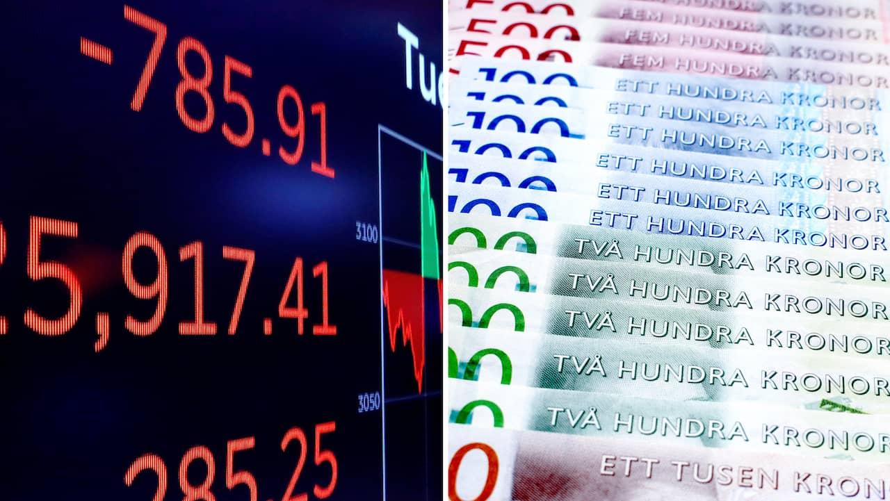 Ras på Stockholmsbörsen – backar drygt tre procent