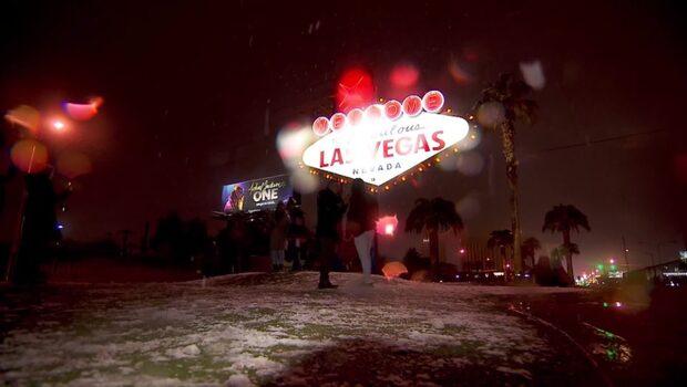 Snö i Las Vegas - för första gången sedan 2008