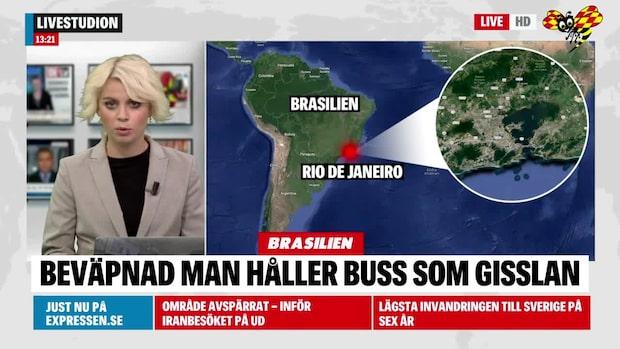 18 personer hålls som gisslan på buss i Brasilien