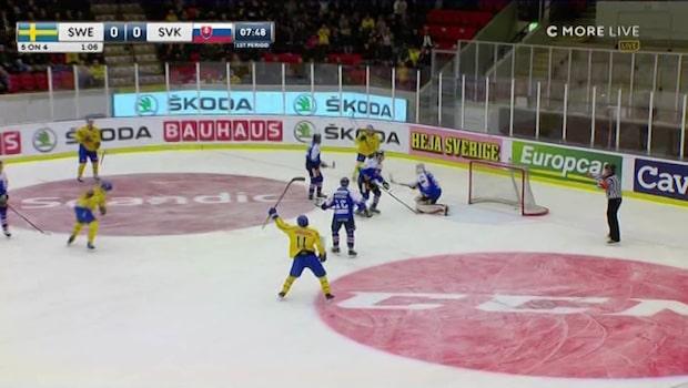 Tre Kronor spelade ut Slovakien