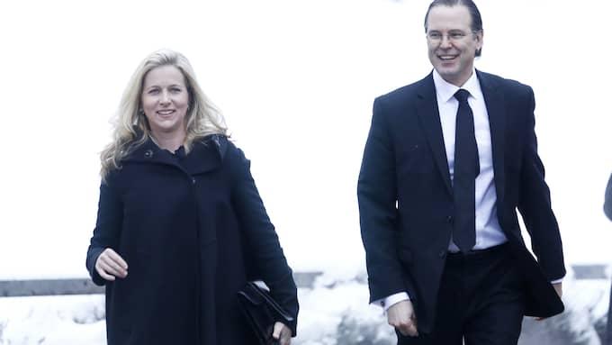Kinneviks ordförande Cristina Stenbeck och Anders Borg. Foto: PATRIK C ÖSTERBERG/ALL OVER PRE / ALL OVER PRESS PATRIK C ÖSTERBE PATRIK ÖSTERBERG /