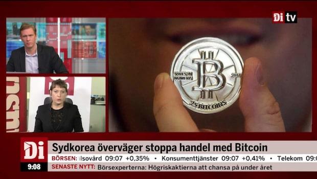 Bitcoinhandel kan stoppas i Sydkorea