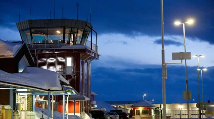 Ett ryskt flygplan stod kvar på Kiruna flygplats utan tillstånd. Bilden är från ett tidigare tillfälle. Foto: Fredric Alm / Scanpix