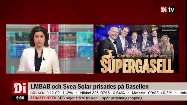 LMBAB och Svea Solar prisades på Gasellen