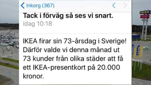 Ikea varnar sina kunder för välskrivet bluffmejl