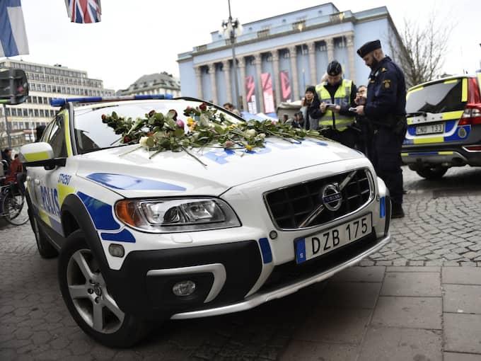 Då bestämde han sig snabbt för att blockera vägen med transportbilen. Foto: Noella Johansson/Tt / TT NYHETSBYRÅN