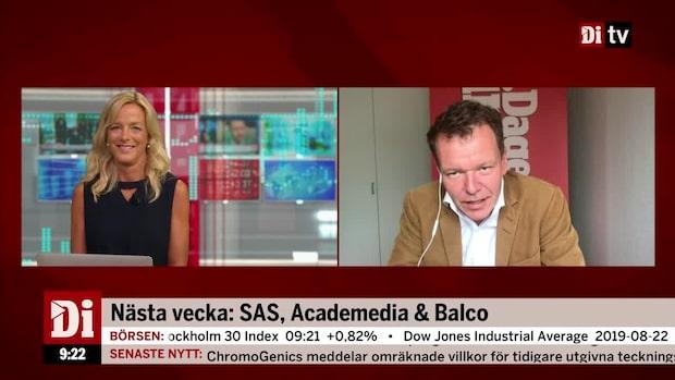 Nästa vecka: SAS, Academedia och Balco
