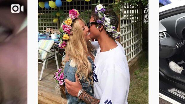 Samir och Sigrids kyssbild – visar midsommarmyset
