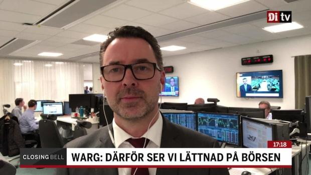 """Warg: """"Marknaden indikerar en tvär recession"""""""