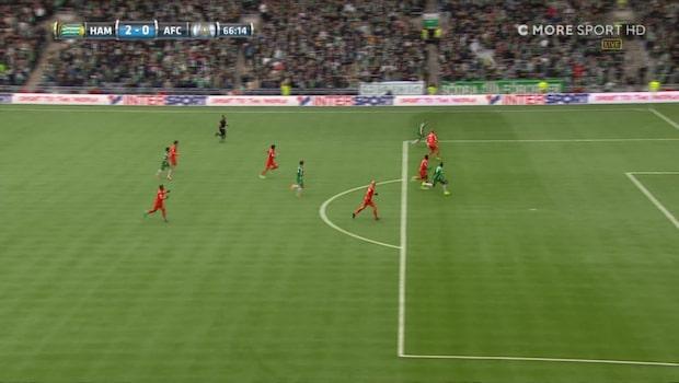 Dibba misstänkt offside - lägger in 2-0 i öppet mål