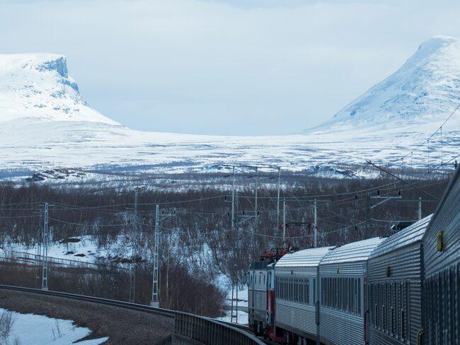 Kiruna–Narvik kommer på andra plats.