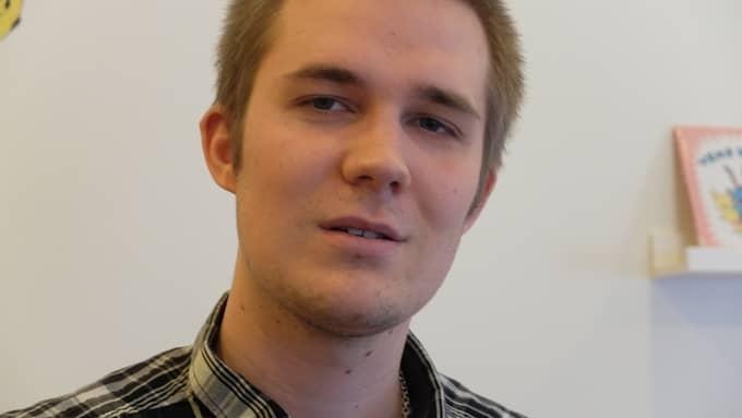 Martin Törnblad, 25, avtjänar ett långt fängesletraff för mordet på sin dåvarande flickväns pappa, Göran Lundblad. Hans kropp hittades nedgrävd i en åker. Foto: MICKE ÖLANDER