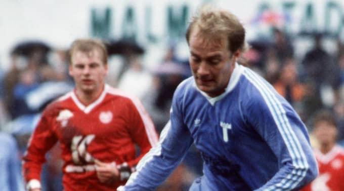 """Mats """"Masse"""" Magnusson i Malmö FF 1985. Året efter vann han SM-guld med klubben."""