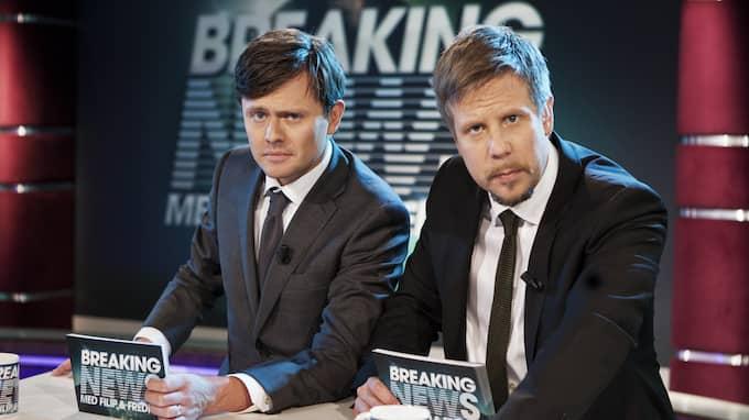 Breaking News med Filip och Fredrik, ett av programmen som Com Hem tittarna gått miste om under tv-bråket. Foto: JOHAN HALSIUS / JOHAN HALSIUS 2011