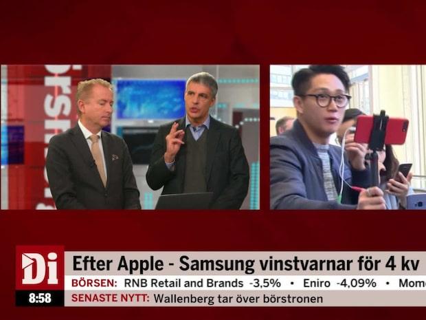 """Samsung vinstvarnar: """"Ovanligt aktiv vinstvarningssäsong"""""""