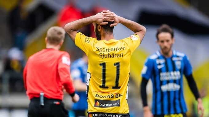 Issam Jebali och hans Elfsborg föll tungt hemma mot Sirius. Foto: JÖRGEN JARNBERGER / BILDBYRÅN