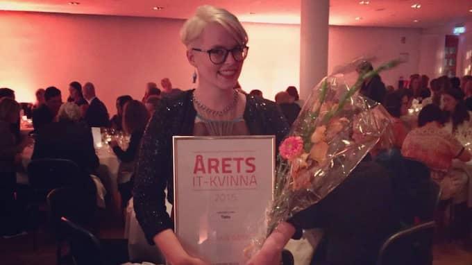 Unn Swanström, user experience-designer på Expressen, har tagit hem titeln årets IT-kvinna. Foto: Jonny Strömberg