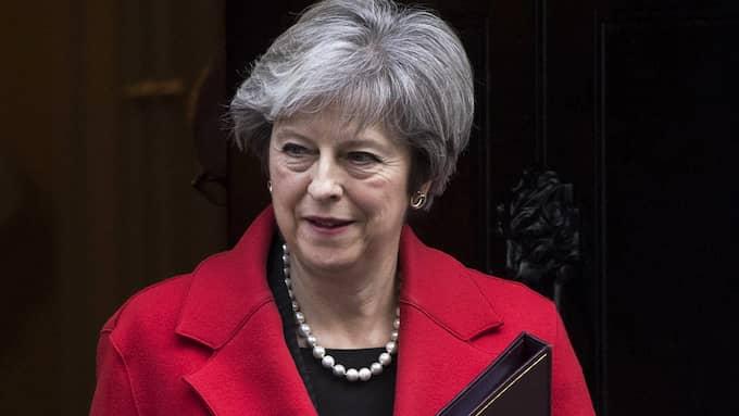 Storbritanniens premiärminister Theresa May. Foto: WILL OLIVER/EPA/TT