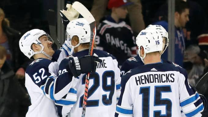Patrik Laine har nu gjort 39 mål denna säsong. Foto: KATHY WILLENS / AP TT NYHETSBYRÅN