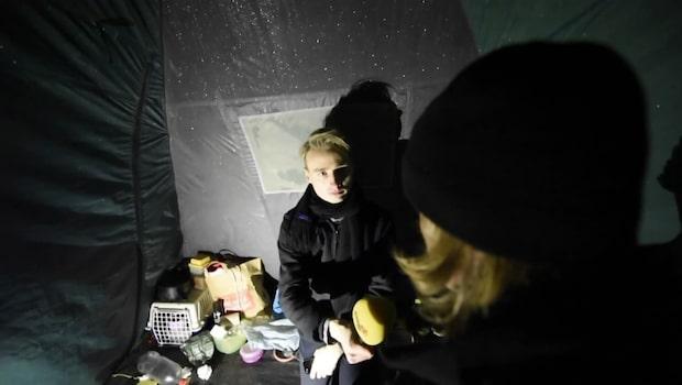"""Patrik bor i ett tält: """"Annars finns det bara att ge upp"""""""