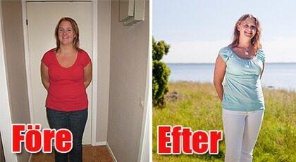Cornelia Tonéri fick en chock då hon såg fotot på sig själv, vågen visade på 83 kilo. Genom att frossa i GI-mat har 12 kilo försvunnit.