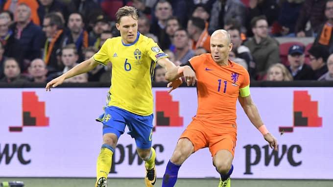 Sverige förlorade mot Holland men är ändå klart för playoff till VM. Vilket Kanal 5 jublar över. Foto: JONAS EKSTRÖMER/TT / TT NYHETSBYRÅN