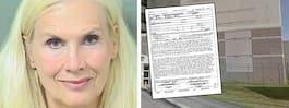 Hollywood-frun Gunilla Persson gripen i USA