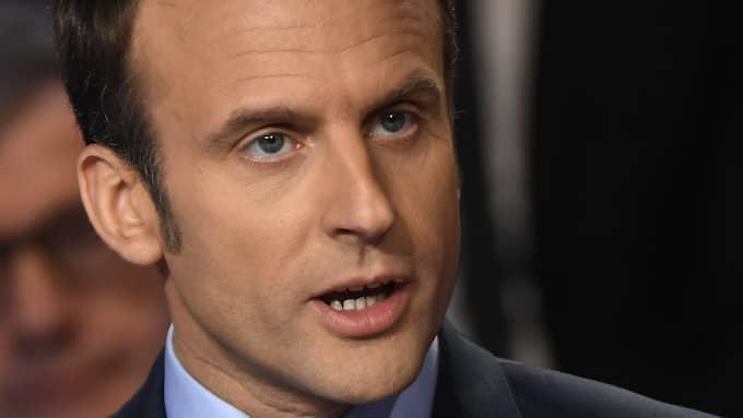 STATUS QUO-KANDIDATEN. Emmanuel Macron går mest till val på att vara motsatsen till Marine Le Pen. Foto: LIONEL BONAVENTURE / POOL / EPA / TT