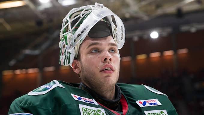 Frölundas målvakt Johan Gustafsson. Foto: BILDBYRÅN