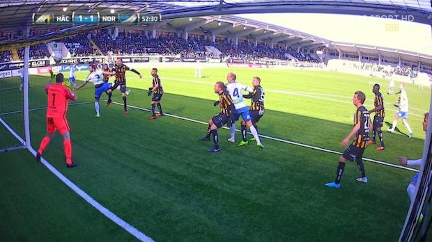 Sebastian Andersson nickar in 2-1 för Norrköping