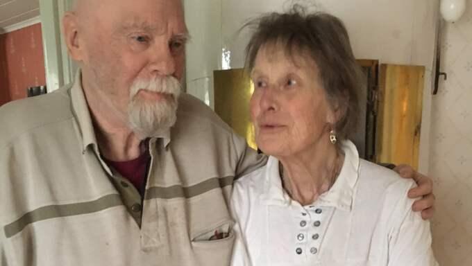 Alzheimersdrabbade Anna-Lena Erlandsson, 78, här med maken Bengt, fick testa den nya behandlingen mot demens. Foto: Helena Holm