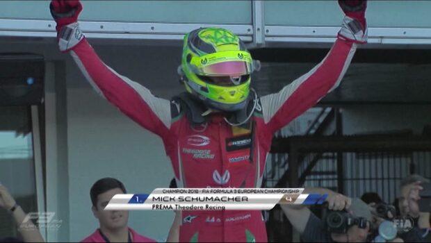 Mick Schumacher vann Formel 3 efter pallplats