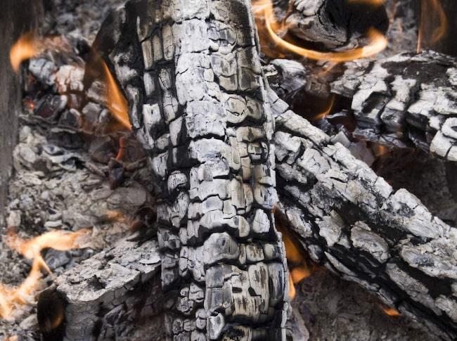 Ved är bra att tända elda på i brasan för att värma sig under kulna kvällar.