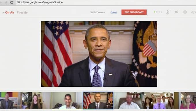 Den som pratar i Google Hangouts placeras i stor bild. Foto: Google