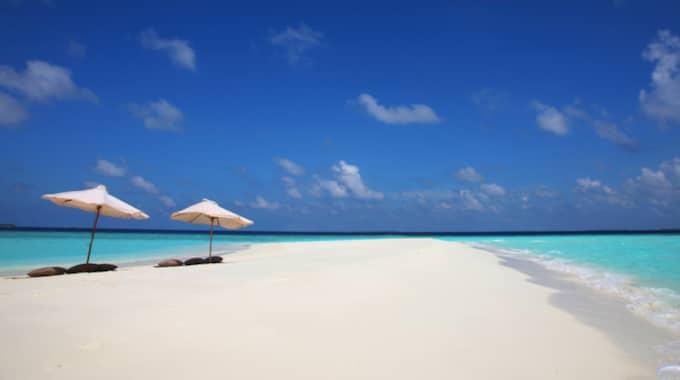 Maldiverna är ett mycket dyrt resmål, men Dina Pengar har gjort allt för att pressa priset för en svensk familj som vill tillbringa en vecka på samma anläggning som Madde och Chris. Foto: Soneva.com