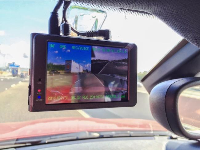 """""""En kamera som är monterad innanför vindrutan på en bil eller på ett cykelstyre behöver inte tillstånd enligt kameraövervakningslagen"""", skriver Högsta förvaltningsdomstolen i sin dom."""
