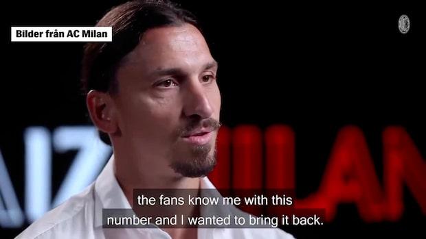 Klart: Zlatan förlänger med Milan – det blir hans nya nummer