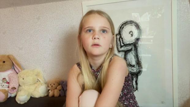10-åriga Vera lider av den kroniska sjukdomen som varje dag gör hennes liv svårare