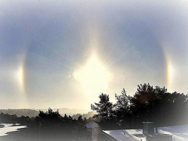 <span>Flera kunde se fenomenet på morgonhimlen i morse.</span>