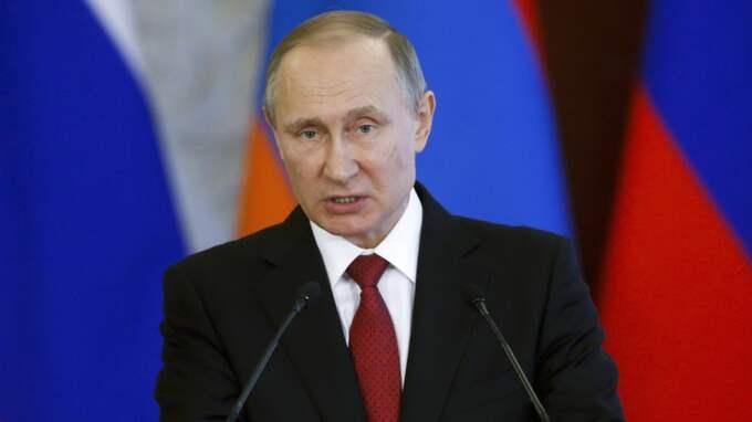 Ryslands president Vladimir Putin. Foto: Sergei Chirikov / AP TT NYHETSBYRÅN