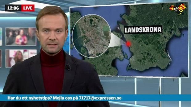 Våldsam brand i flerfamiljshus i Landskrona