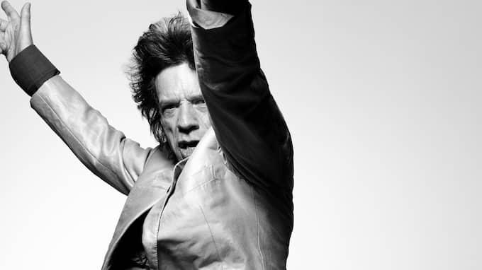 Vännen Mick Jagger är med i utställningen. Foto: Bryan Adams