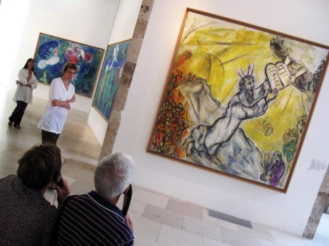 På Chagall-museet kostar inträdet 80 kronor.